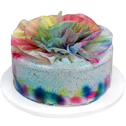 Special Delicious Colourful Holi Cake 1kg Eggless