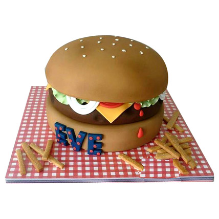 Special Delicious Hamburger Cake 4kg Eggless