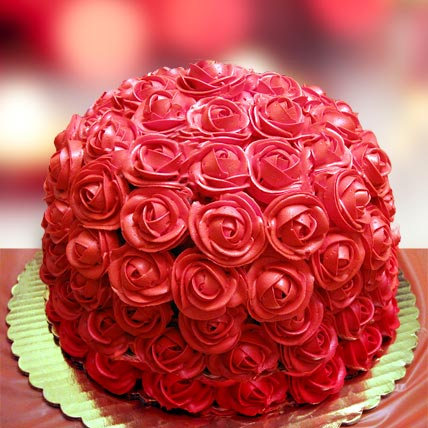 Special Delicious Red Rose Cake 1kg Eggless