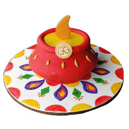 Special Om Kalash Cake 3kg Eggless
