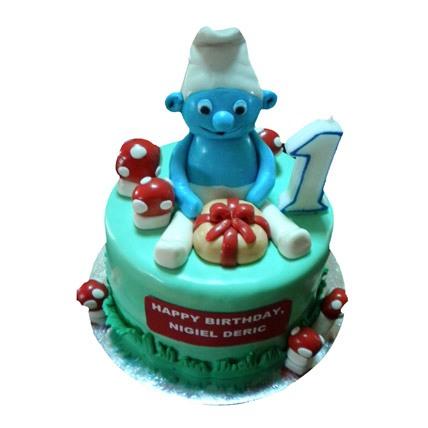 Special Smurf Cake 4kg Eggless