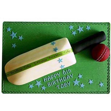Splendid Cricket Bat Ball Cake 2kg Eggless