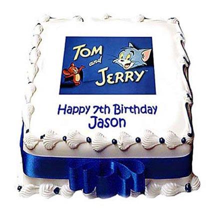 Sporty Tom Jerry Photo Cake 3kg