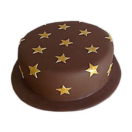 Starry Chocolate Cake 3kg Eggless
