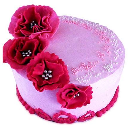 Strawberry Cake Special Half kg Eggless