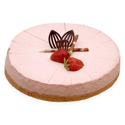 Strawberry Cheese Cake 2kg Eggless