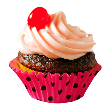 Strawberry Merry Cupcakes 24 Eggless
