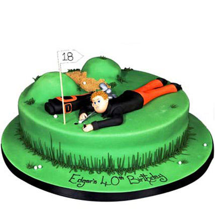 Stunning Golf Course Cake 2kg