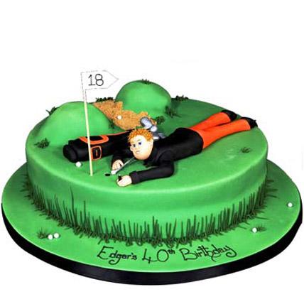 Stunning Golf Course Cake 4Kg Eggless Chocolate