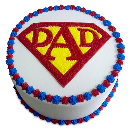 Super Cake For A Super Dad Half kg