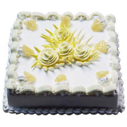 Sweet Pineapple Jinx Cake 1kg Eggless