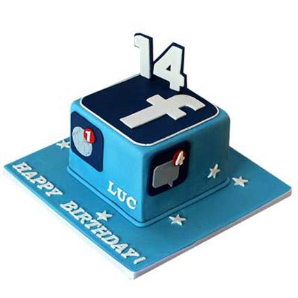 Tasty Facebook Cake 2kg