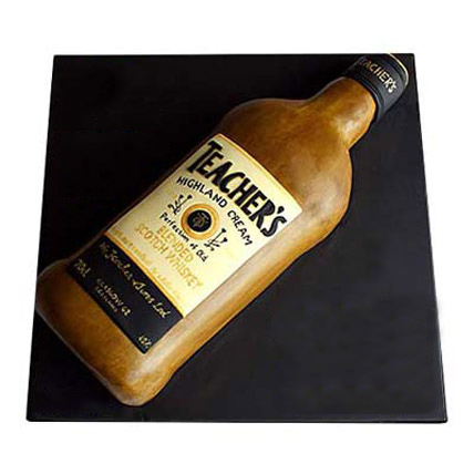 Teachers Scotch Whisky Cake 4kg Eggless