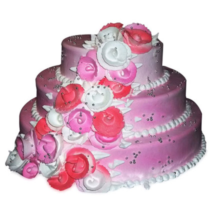 The 3Tier Pink Cake 5kg