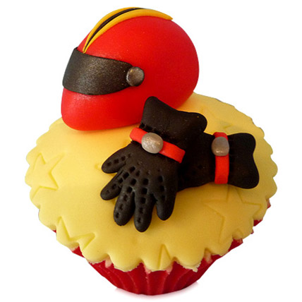 The Biker Dad Cupcakes 6 Eggless