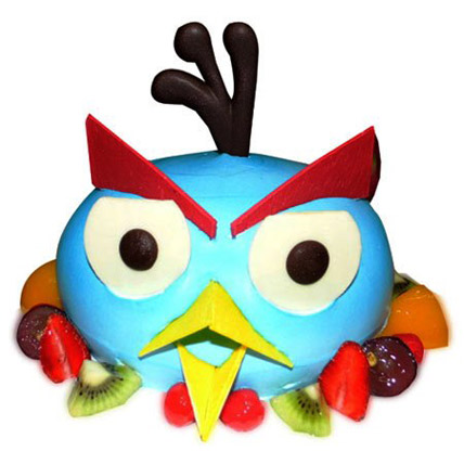 The Blue Angry Bird Cake 2kg