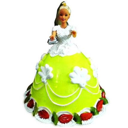 The Lovely Barbie Cake 2kg Eggless