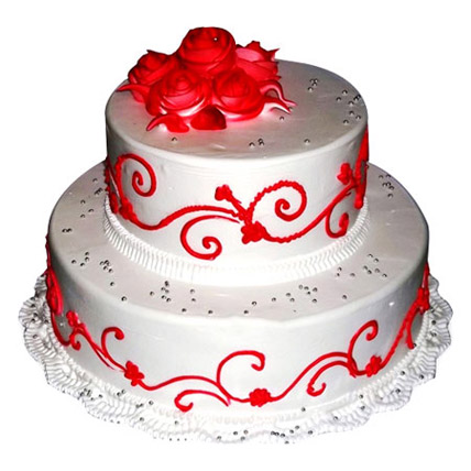 The Royal Three Tier Cake 4kg Eggless