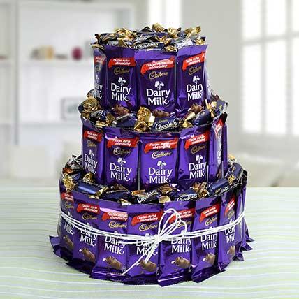 Three Layer Chocolaty Wishes Gift Best Chocolate For