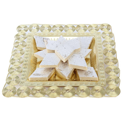 Tray Full Of Kaju Katli