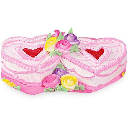 Twin Heart Cake 4kg Eggless