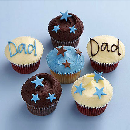 Twinkling Stars Cupcakes for Dad 12 Eggless
