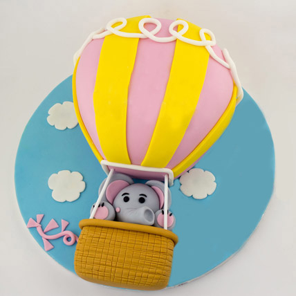 Up In The Sky Balloon Cake