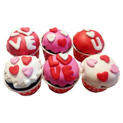 Valentine Special Cupcakes 24 Eggless