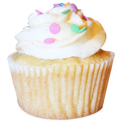 Vanilla Bean Cupcakes 6 Eggless