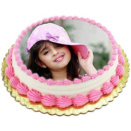 Vanilla Photo Cake3kg Eggless