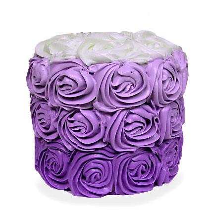 Violet Rose Cake 4kg Eggless