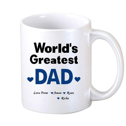 White Personalised Coffee Mug