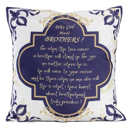 Why God Made Brothers Cushion