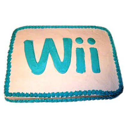 Wii Engaging Logo Cake 3kg Eggless