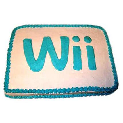 Wii Engaging Logo Cake 3kg