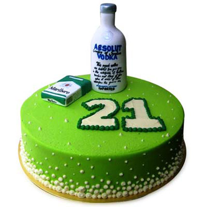 Young Absolute Vodka Cake 3kg Eggless