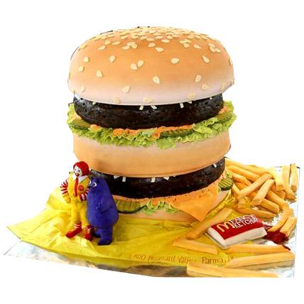 Yummy Burger Cake 2kg Eggless