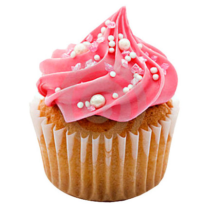 Yummy Pink Cupcakes 6 Eggless