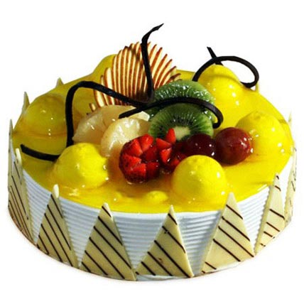 Yummy Yellow Pineapple Treat 2kg Eggless