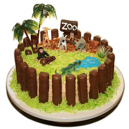 Zoo Cake 5kg Eggless