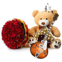 100 Strings of Love: Valentine Flowers & Teddy Bears