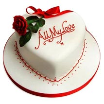 All My Love Cake: Heart Shaped Cakes Ludhiana