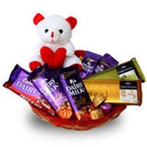 Branded Chocolate Basket: Send Karwa Chauth Gift Baskets