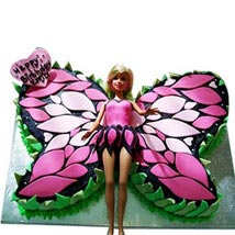 Butterfly Stylish Barbie Cake: Gifts to Perungudi