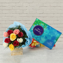 Celebrations with Roses: Flowers & Chocolates