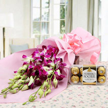 Choco Orchid Delight: Send Wedding Gifts to Hyderabad