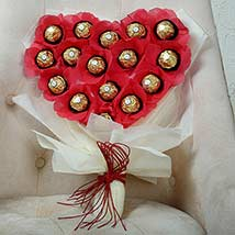 Best marriage anniversary gift for husband in india ferns n petals chocolate heart bouquet send anniversary gifts for husband negle Images