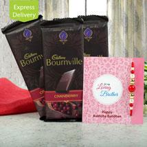 Chocolates N Rakhi: Rakhi with Chocolates