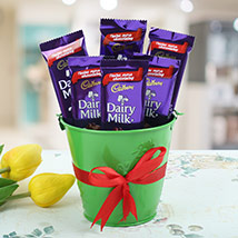 Chocolaty Vase:  Chocolates for Him