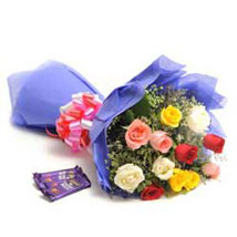 Colour Blast: Send Flowers & Chocolates to Delhi
